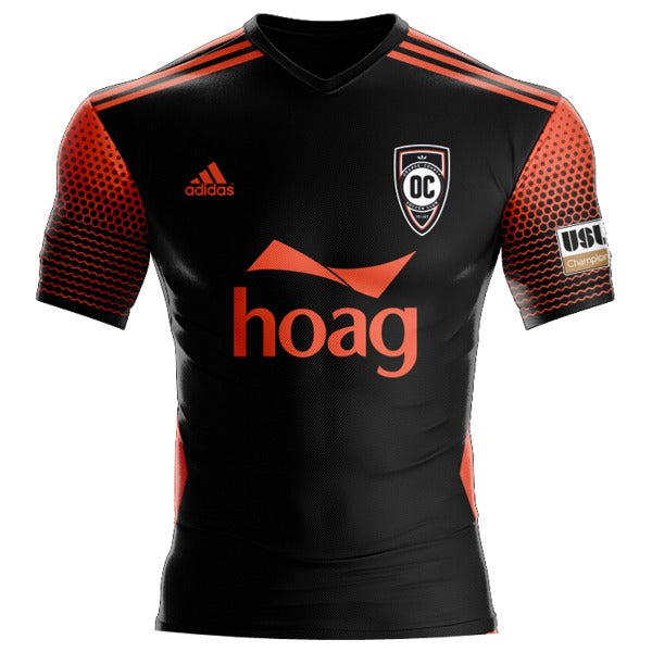 OCSC 2021 Jersey - Black and Red Away
