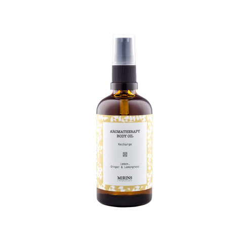 Body Oil - Recharge - Lemon, Ginger & Lemongrass