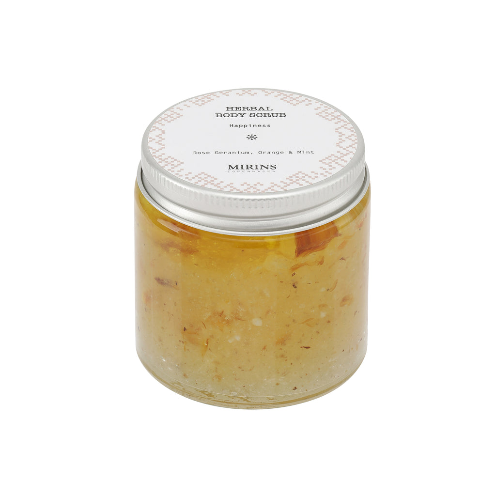Body Scrub - Happiness - Rose Geranium, Orange & Mint
