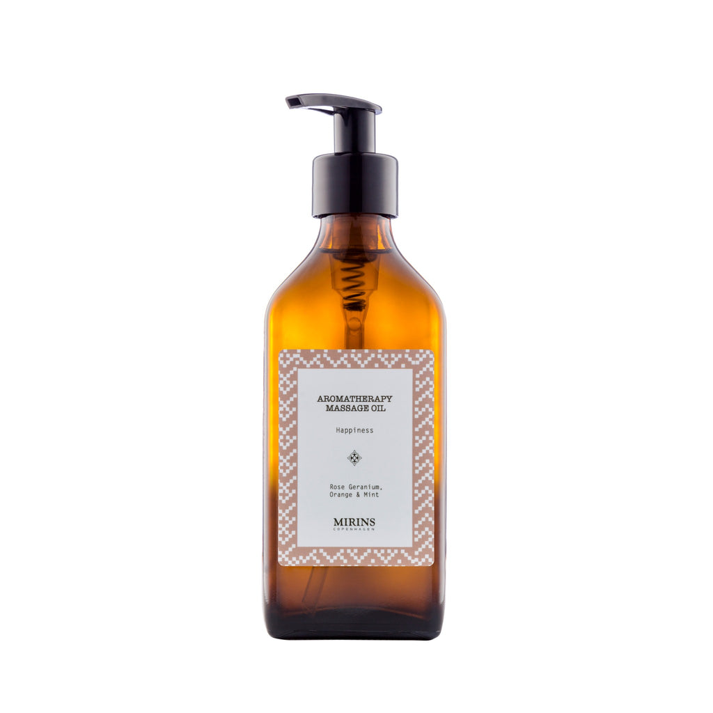 Massage Oil - Happiness - Rose Geranium, Orange & Mint