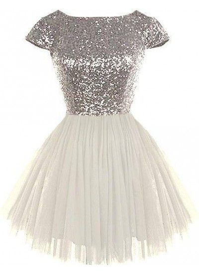 sequin Homecoming Dress, Bridesmaid Dress A-Line