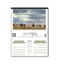 "Load image into Gallery viewer, LARGE 6 SHEET CALENDAR 2021- 17""X23""   Image size 11""X17"""