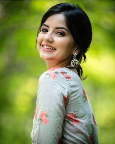 Smiling Indian Model in Long sleeve top