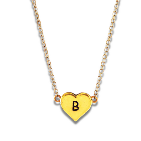 Heart Necklace Initial