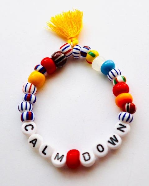 Calm Down African Beaded Bracelet