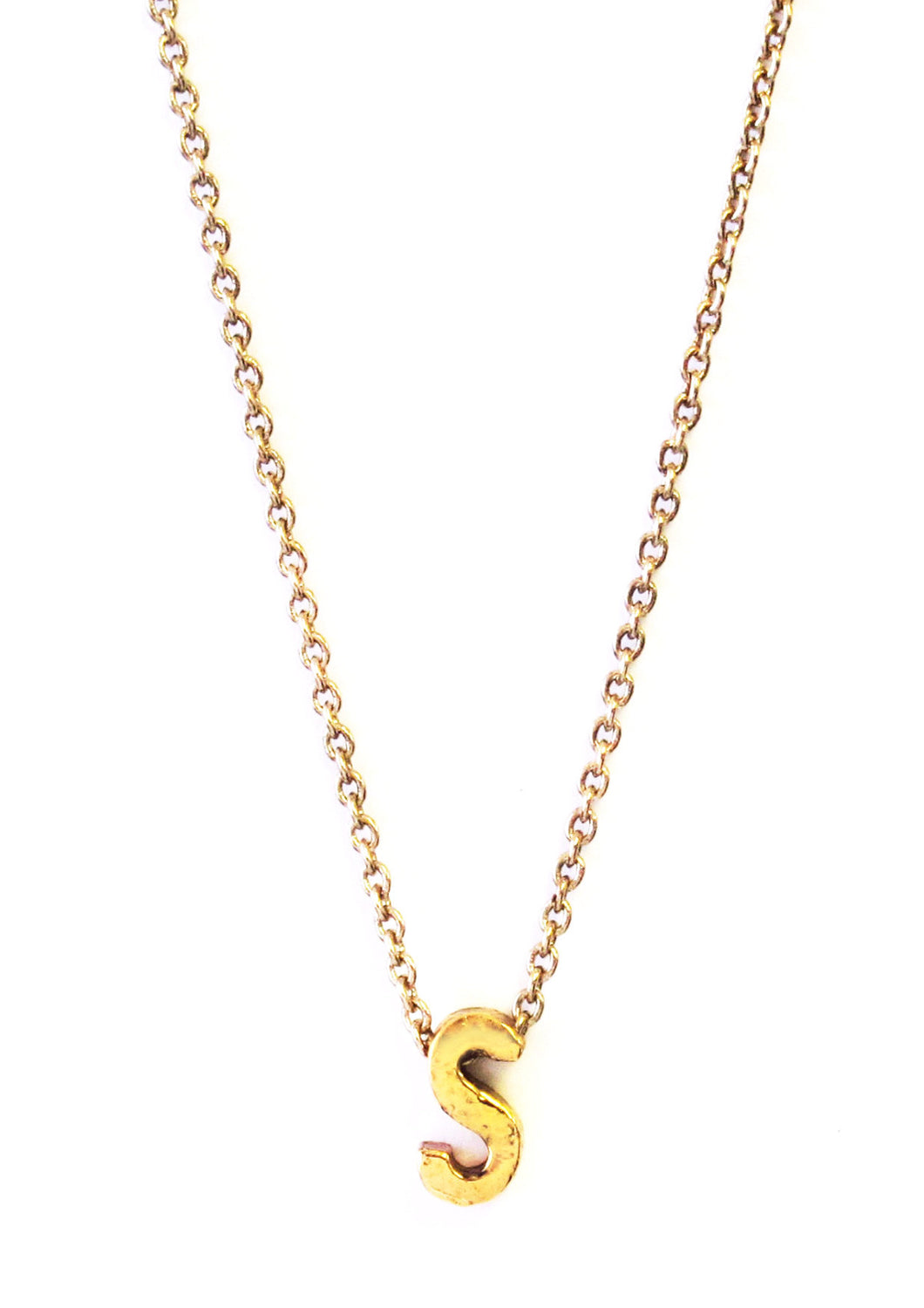 Bold Block Initial Necklace