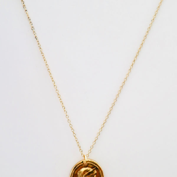 Athenian Man Gold Cameo Necklace