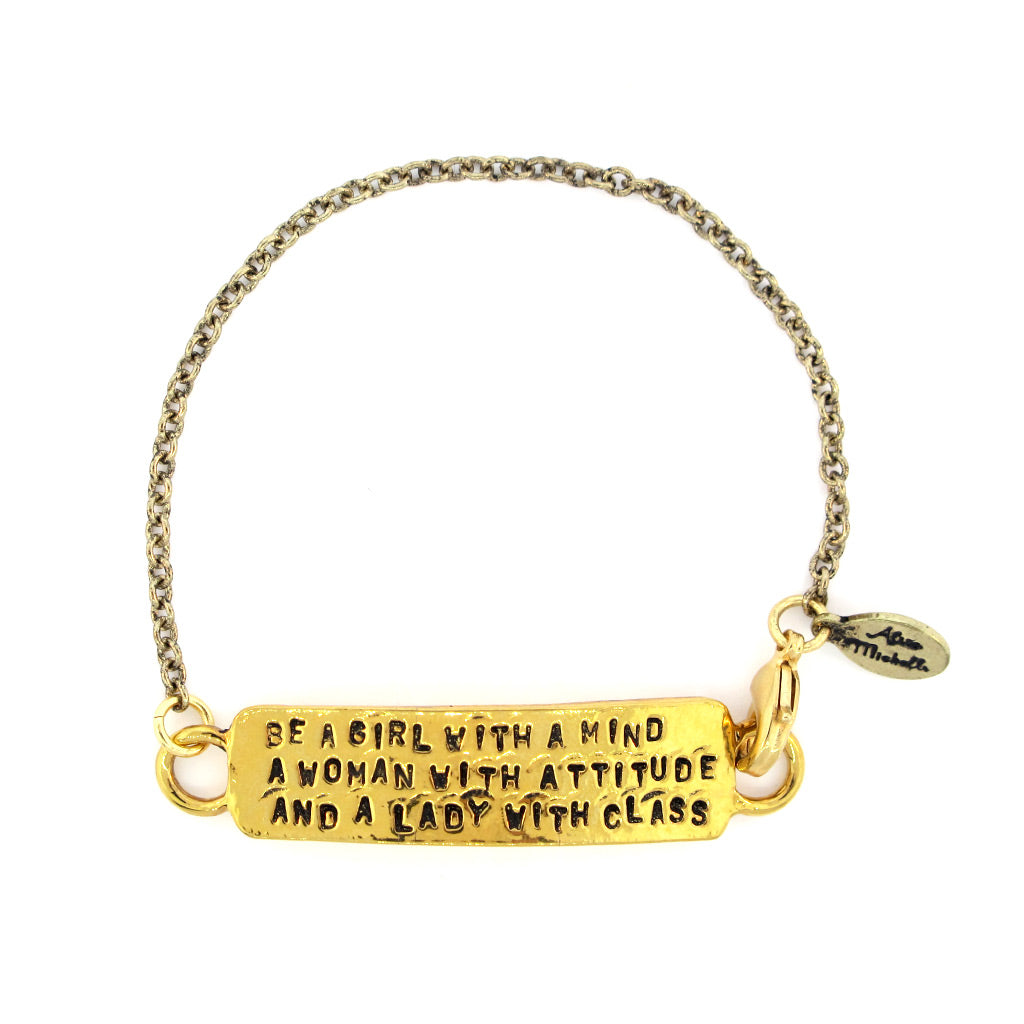 'Be a Girl With a Mind...' Chain Bracelet