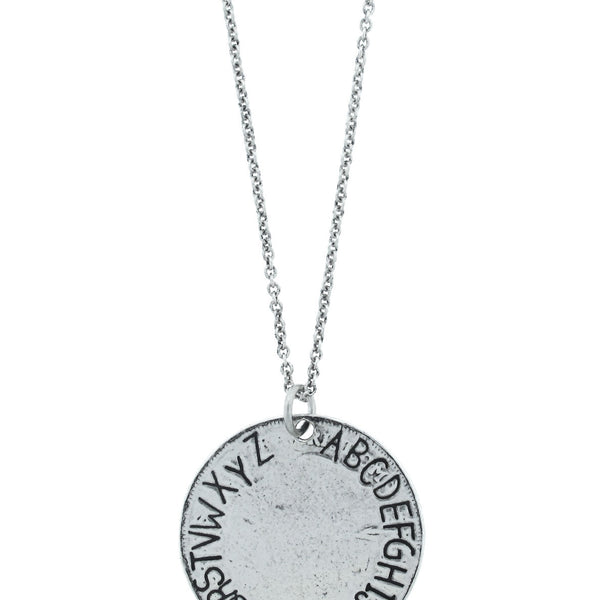 Missing You Alphabet Necklace