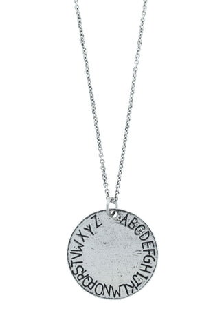'Alphabet/Missing' Necklace