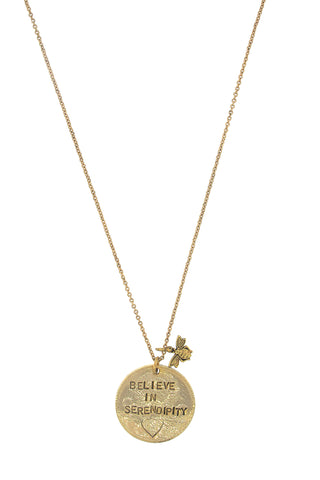 'Believe In Serendipity' Charm Necklace