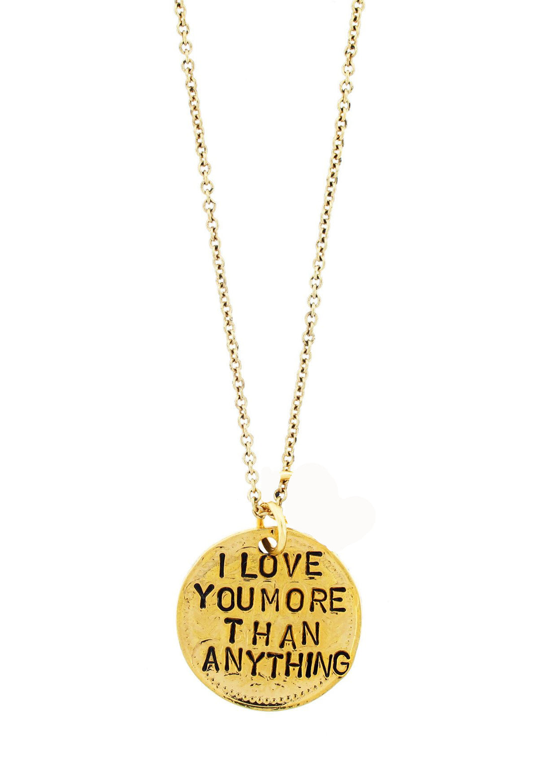 'I Love You More Than Anything' Amethyst Necklace