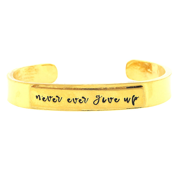 'Never Ever Give Up' Cuff