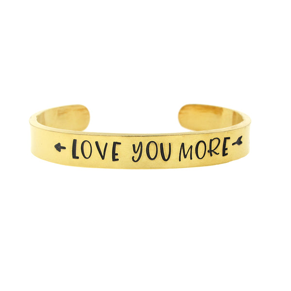 Love You More Thin Arrow Cuff