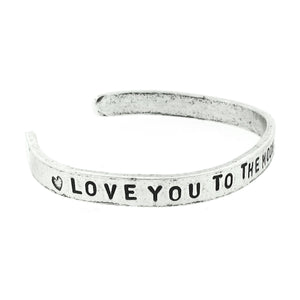 'Love You to the Moon and Back' Cuff