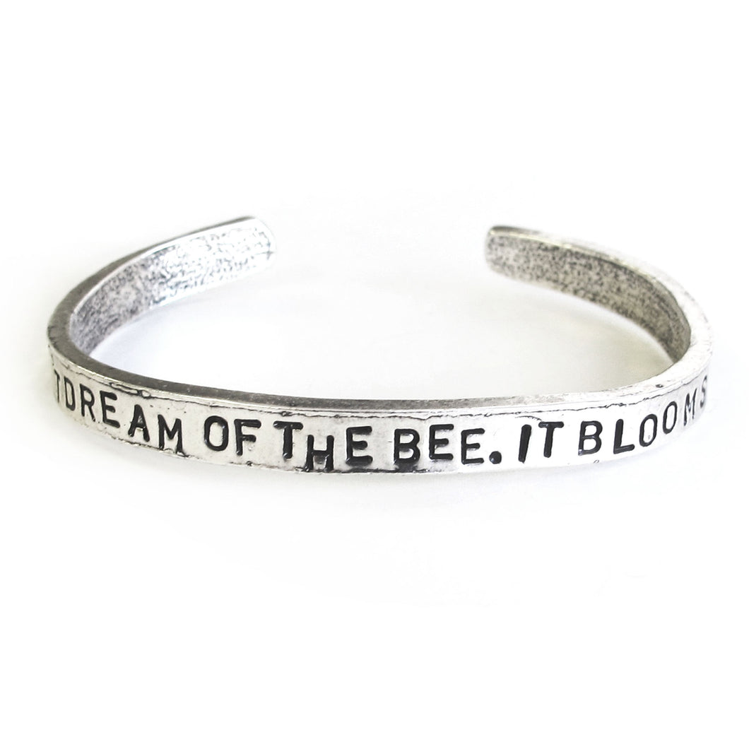 'The Flower Doesn't Dream of the Bee' Cuff