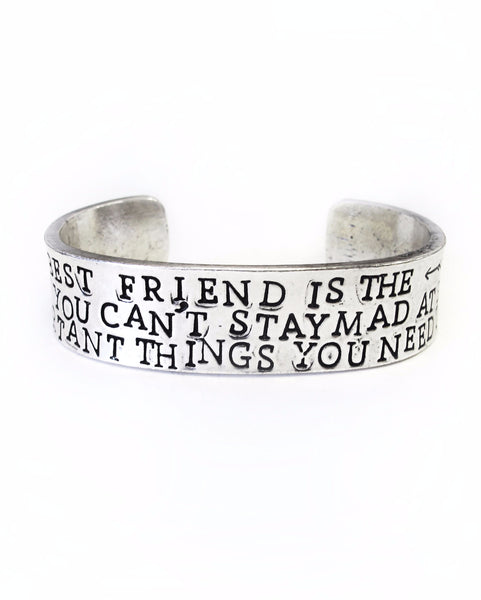 'Best Friend' Double-Sided Cuff