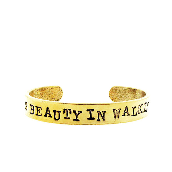 'There's Beauty in Walking Away' Cuff