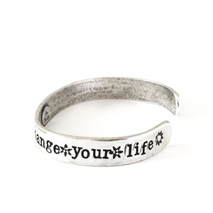 'Change Your Attitude And Change Your Life' Cuff
