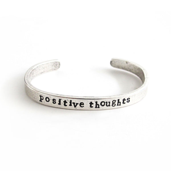 'Positive Thoughts' Cuff