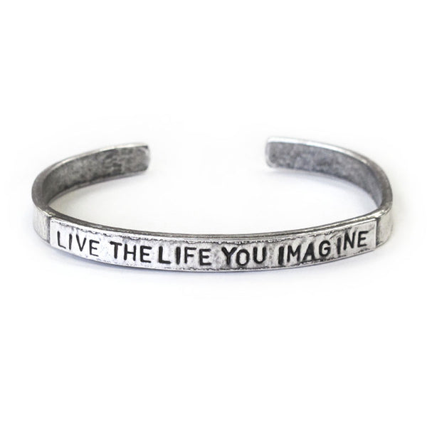 'Live The Life You Imagine' Cuff