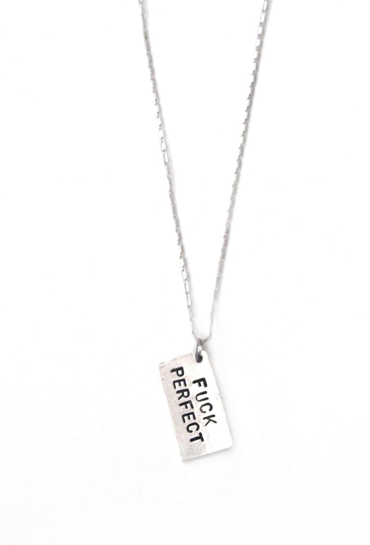 hand disc triple necklace pendant sterling stamped product personalized silver initial with