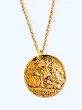 Load image into Gallery viewer, Vintage good Luck Token Necklace