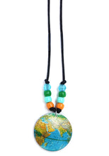 Load image into Gallery viewer, Turquoise Globe Little Lessons Necklace