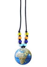 Load image into Gallery viewer, Royal Blue Globe Little Lessons Necklace