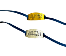 Load image into Gallery viewer, PRACTICE KINDNESS LEATHER BRACELET