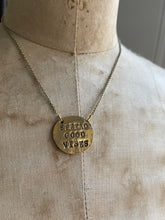 Load image into Gallery viewer, Spread Good Vibes Hand Stamped Necklace