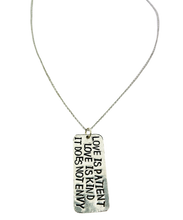 Load image into Gallery viewer, Love Is Patient Love Is Kind Stamped Necklace