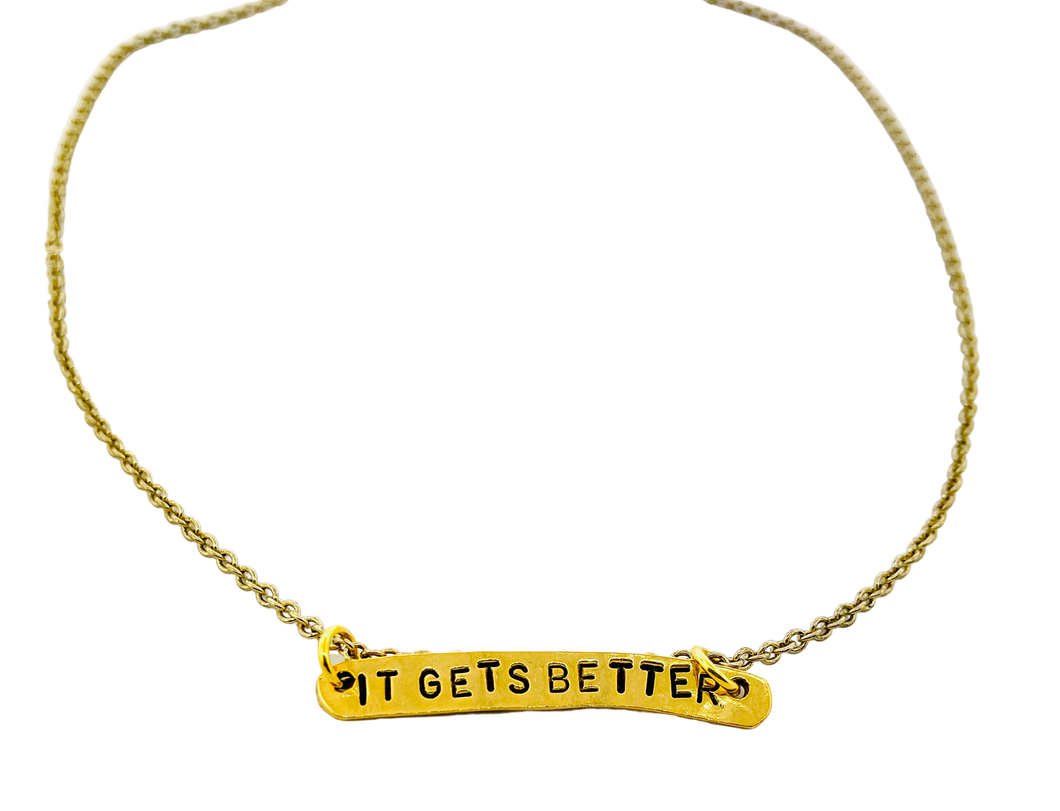 It Gets Better Stamped Necklace