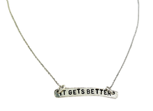 Load image into Gallery viewer, It Gets Better Stamped Necklace