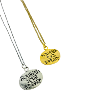 Nourish The Spirit Stamped Necklace