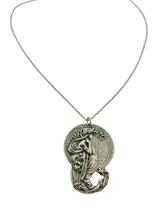 Load image into Gallery viewer, detailed mermaid necklace