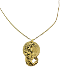 Load image into Gallery viewer, art deco mermaid pendant