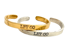 Load image into Gallery viewer, Let Go Inspirational Cuff