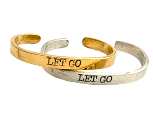 Let Go Inspirational Cuff