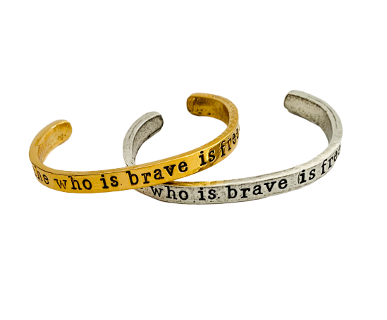 She Who Is Brave Inspirational Cuff