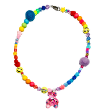 Load image into Gallery viewer, Be Happy Teddy Bear Beaded Necklace