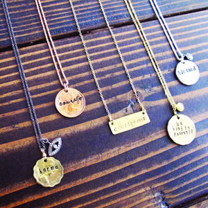 Personalized Hand Stamped Necklace