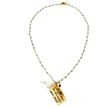 Load image into Gallery viewer, Aquamarine I love you To the Moon and Back Necklace