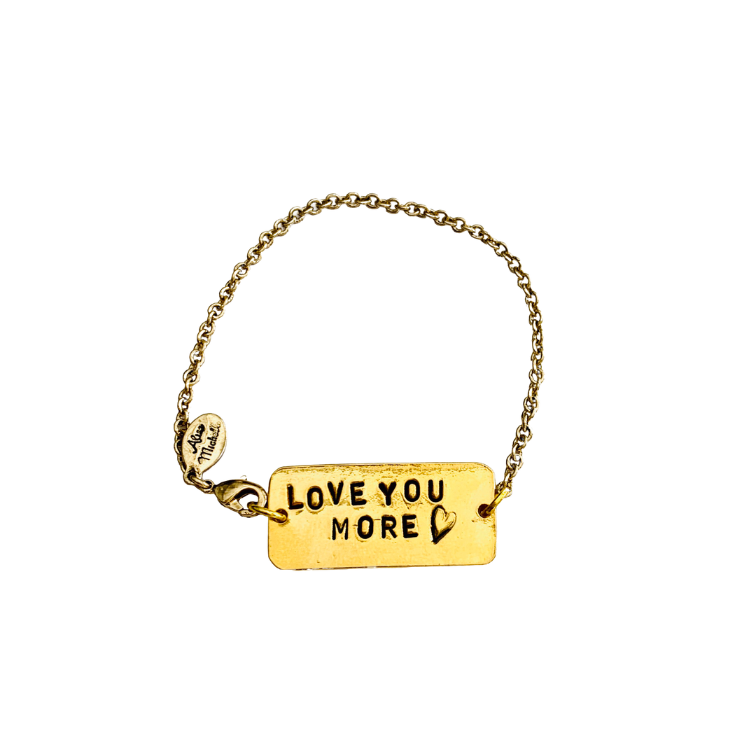 Love You More Chain Bracelet