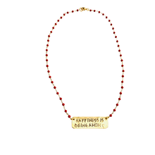 Load image into Gallery viewer, Happiness is Being a Mom coral Necklace
