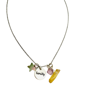 Silver Family Charm Necklace