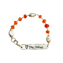 Load image into Gallery viewer, Carnelian Love you to the Moon reversible Bracelet