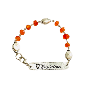 Carnelian Love you to the Moon reversible Bracelet
