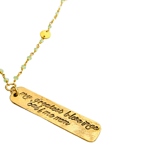 My Greatest Blessings Call Me Mom Necklace
