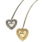 Loved Large Heart Necklace
